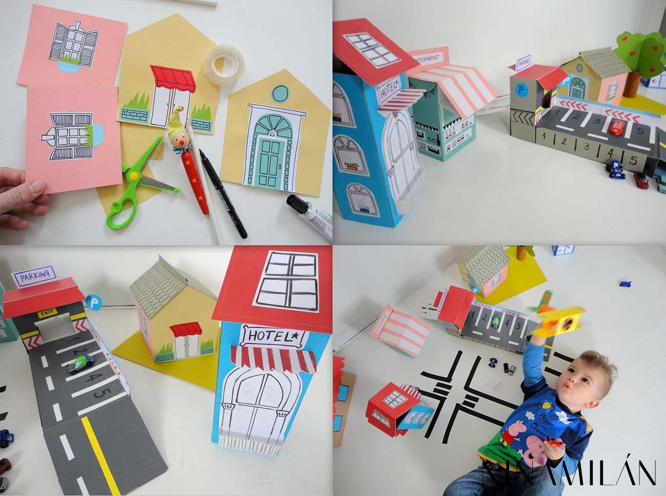 Pocelo je od jedne kartonske kucice a ubrzo se sve pretvorilo u pravi mali grad od kartona